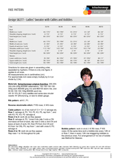 FREE PATTERN Design S  Ladies Sweater with Cables and