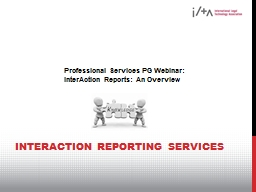 InterAction Reporting Services