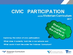CIVIC   PARTICIPATION a nd the