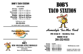 BOBS TACO STATION Homestyle TexMex Food Made Fresh Dai PowerPoint PPT Presentation