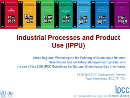 Industrial Processes and Product Use (IPPU)