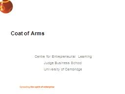 Coat of Arms Centre for Entrepreneurial Learning