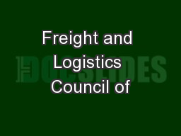 Freight and Logistics Council of