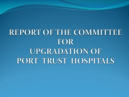 REPORT OF THE COMMITTEE PowerPoint PPT Presentation