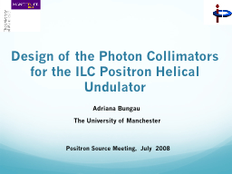 Design of the Photon Collimators for the ILC Positron Helical