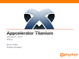 Appcelerator  Titanium January 6