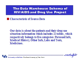 The Data Warehouse Schema of HIV/AIDS and Drug Use Project