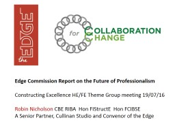 Edge Commission Report on the Future of Professionalism