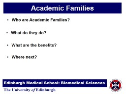 Academic Families Who are