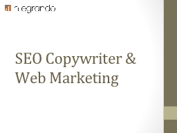 SEO Copywriter & Web Marketing