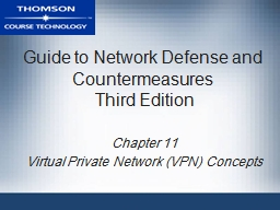 Guide to Network Defense and Countermeasures PowerPoint PPT Presentation