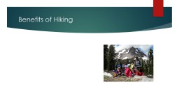 Benefits of Hiking What's In Store