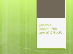 Graphic Design—The Law of C.R.A.P.