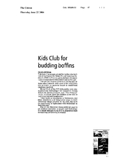 Kids Club for budding boffins CITIZEN REPORTER THE Kid