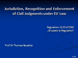 Jurisdiction , Recognition and PowerPoint PPT Presentation