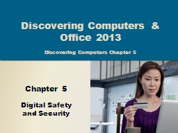 Objectives Overview Discovering Computers 2014: Chapter 5