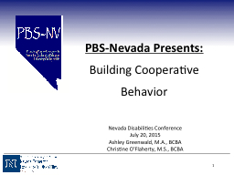 1 PBS-Nevada  Presents: Building Cooperative