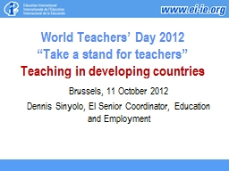 World Teachers' Day 2012