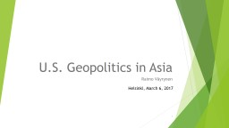 U.S.  Geopolitics  in Asia