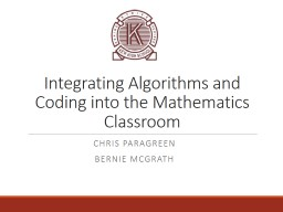 Integrating Algorithms and Coding