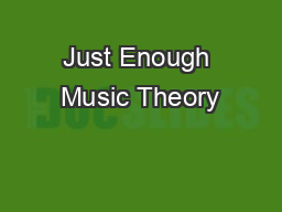 Just Enough Music Theory