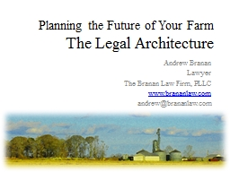 Planning the Future of Your Farm PowerPoint PPT Presentation