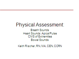 Physical Assessment: Breath Sounds PowerPoint PPT Presentation