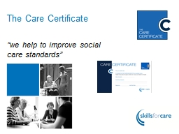"The Care Certificate ""we"