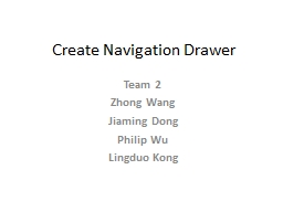 Create Navigation Drawer
