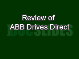 Review of ABB Drives Direct