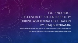 TYC  5780-308-1 Discovery of stellar duplicity