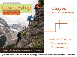 Leader-Member Exchange and Followership