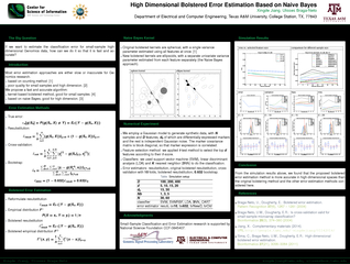 High Dimensional Bolstered Error Estimation Based on N PowerPoint PPT Presentation