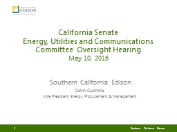 California Senate  Energy,