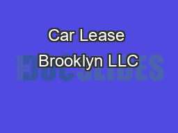Car Lease Brooklyn LLC