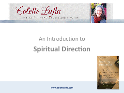 An Introduction to Spiritual Direction PowerPoint PPT Presentation