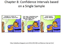 Chapter 8: Confidence Intervals based on a Single Sample