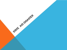State Aid Disaster Disaster reference information