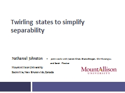 Twirling  states  to  simplify