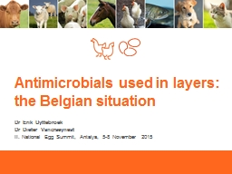 Antimicrobials used  in layers: