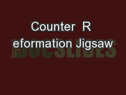 Counter  R eformation Jigsaw
