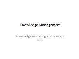 Knowledge Management Knowledge modeling and concept map