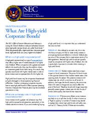 INVESTOR BULLETIN What Are Highyield Corporate Bonds e