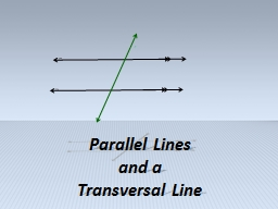 m n t Paralle l Lines  and a PowerPoint PPT Presentation