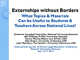 Externships without Borders
