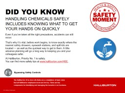 HANDLING CHEMICALS SAFELY INCLUDES KNOWING WHAT TO GET YOUR HANDS ON