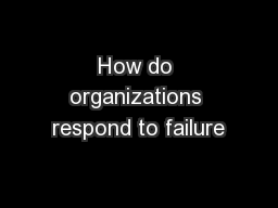 How do organizations respond to failure PowerPoint PPT Presentation