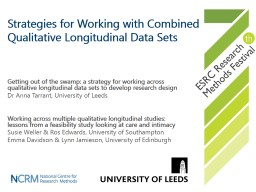 Strategies for Working with Combined Qualitative Longitudinal Data Sets