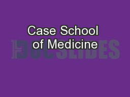Case School of Medicine