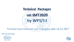 WP1/13  management team Technical Packages PowerPoint PPT Presentation